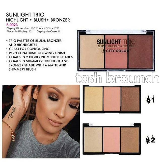 Kết quả hình ảnh cho City Color Sunlight Trio BLush Highlight & Bronzer
