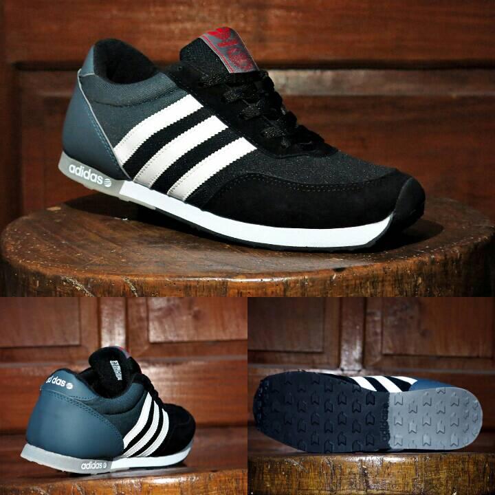 ... best jual sepatu sport adidas neo v racer hitam abu abu casual running  jogging lapak sepatu ... 542c9fa3e0