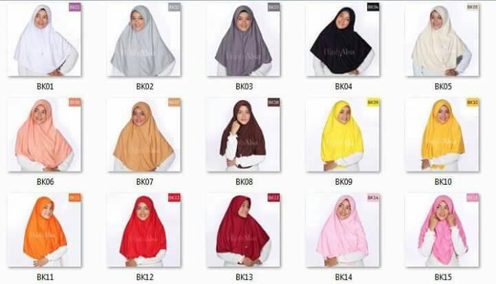 Bergo Kaos Hijab Alsa Ukuran M / L
