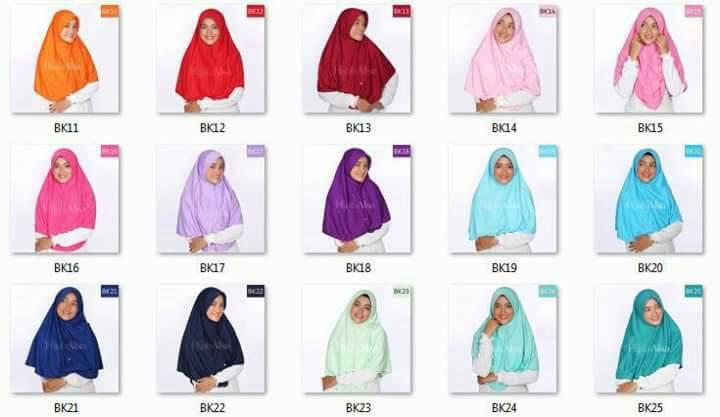Bergo Kaos Hijab Alsa Ukuran XL / XXL