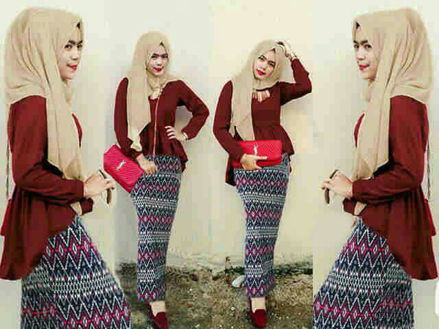 st tribal hijab 3in1 maroon