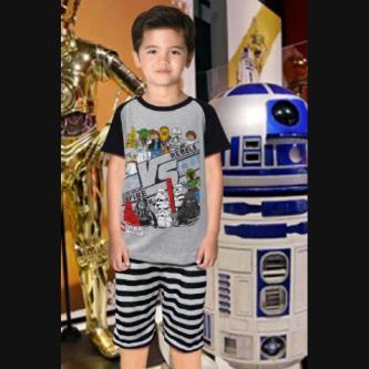 STKDL164 - Setelan Anak Laki Star Wars Misty Stripe Murah