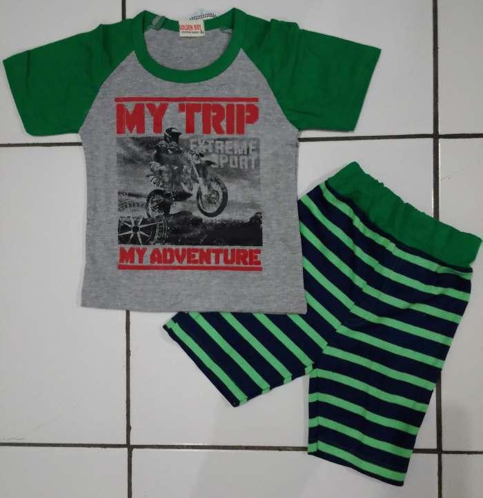 STKDL161 - Setelan Anak My Trip Adventure Green