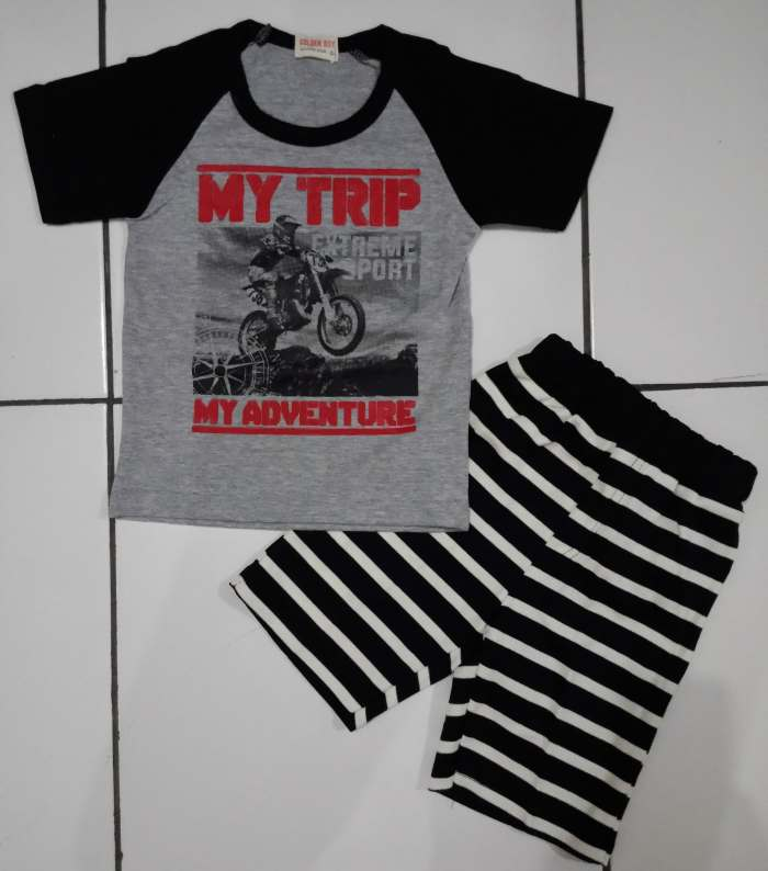 STKDL162 - Setelan Anak My Trip Adventure Black