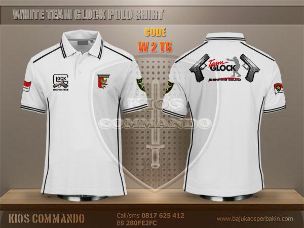 Jual Baju Kaos Polo Perbakin Team Glock Putih Baju Kaos