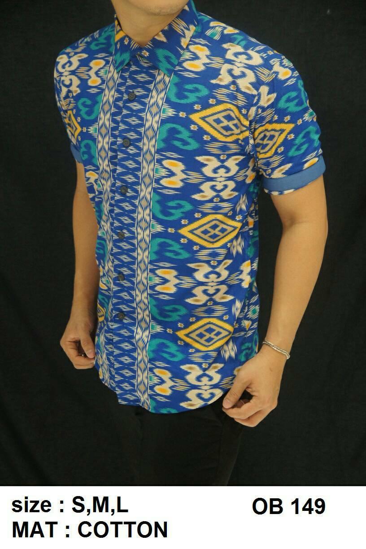 Batik - Kemeja Pria Slim Fit Motif Keren OB149