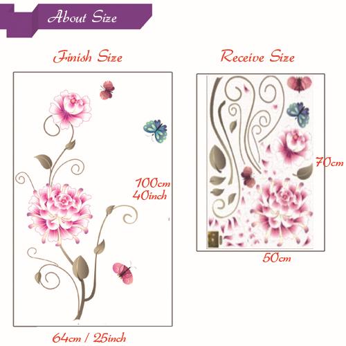 jual pink white flower wall sticker transparant azka white flower wall stickers is the envy of all women