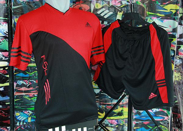 Jual Setelan Kaos Futsal Bola Adidas F50 New Hitam Merah Terbaru ... bf18c7a0cf