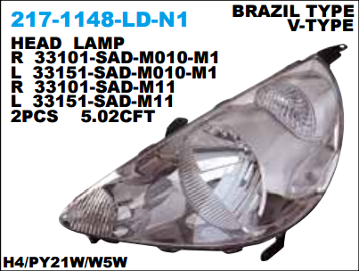 HEAD LAMP / LAMPU DEPAN MOBIL JAZZ 2004