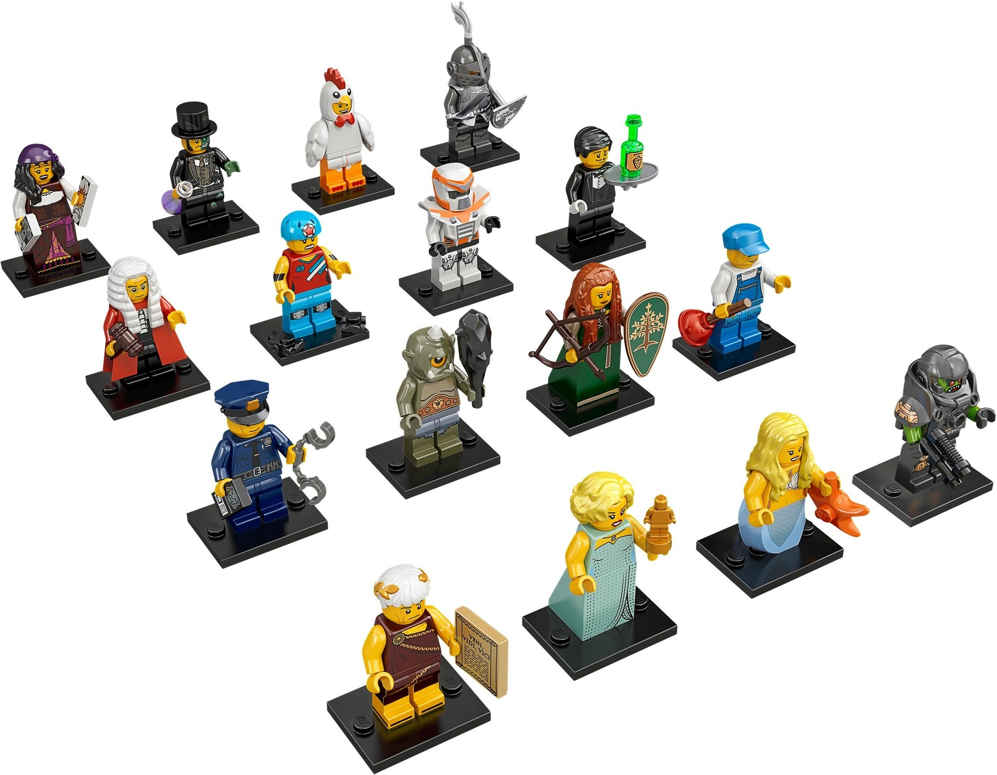 LEGO 71000 - LEGO Minifigures Series 9 Complete Full Set (16 pcs) MISP