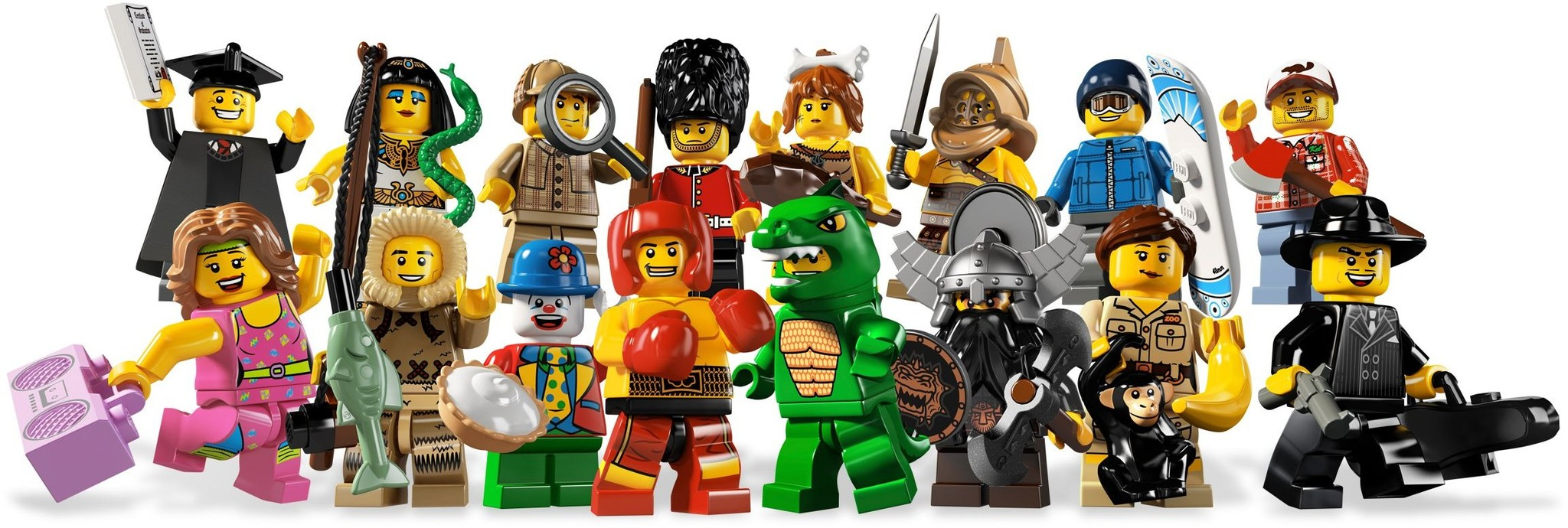LEGO 8805 - LEGO Minifigures Series 5 Complete Full Set (16 pcs) MISP