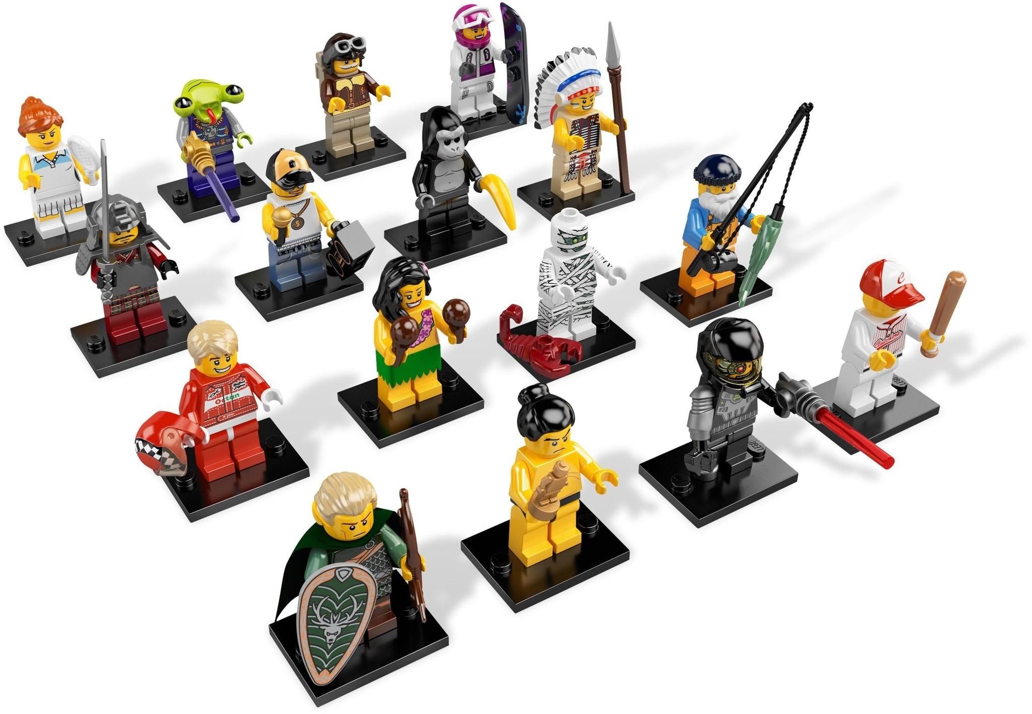 LEGO 8803 - LEGO Minifigures Series 3 Complete Full Set (16 pcs) MISP