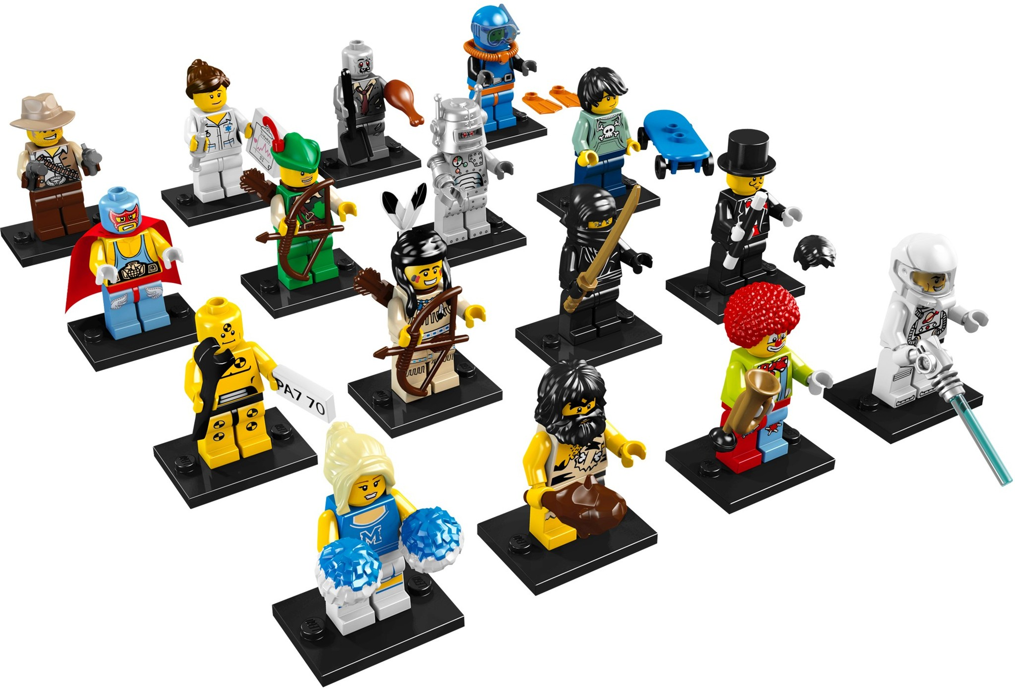 LEGO 8683 - LEGO Minifigures Series 1 Complete Full Set (16 pcs) MISP