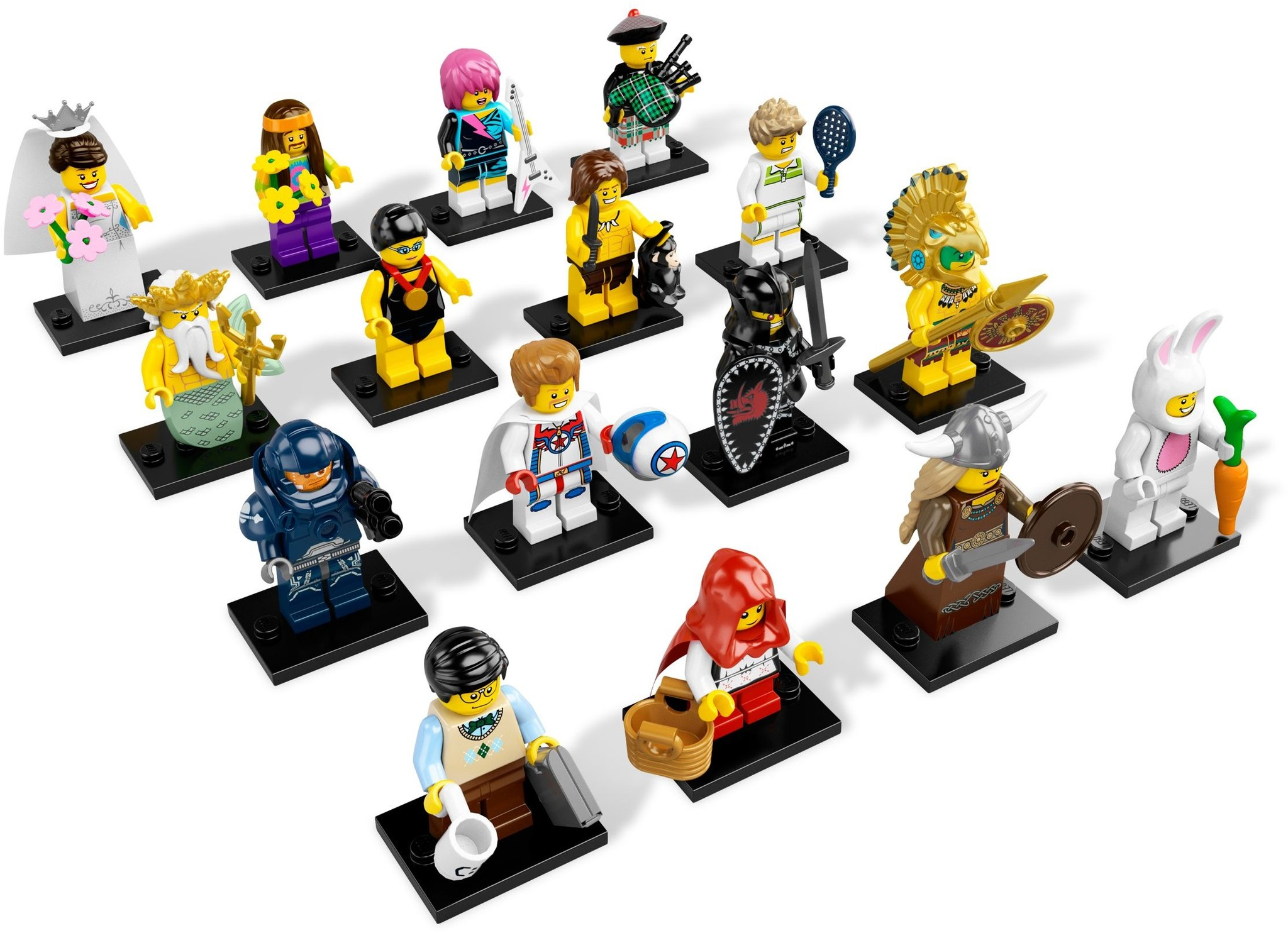 LEGO 8831 - LEGO Minifigures Series 7 Complete Full Set (16 pcs) MISP