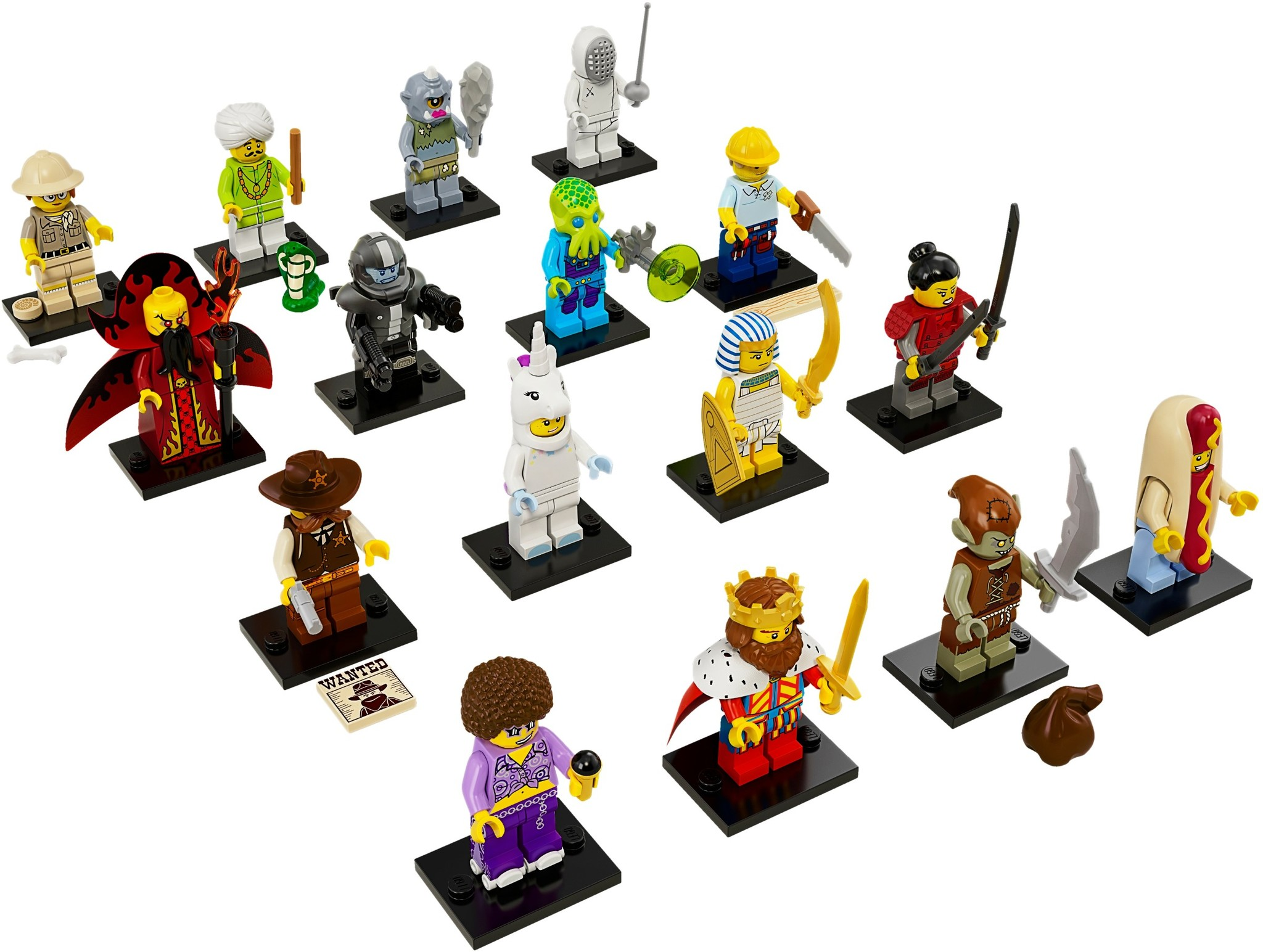 LEGO 71008 - LEGO Minifigures Series 13 Complete Full Set (16pcs) MISP