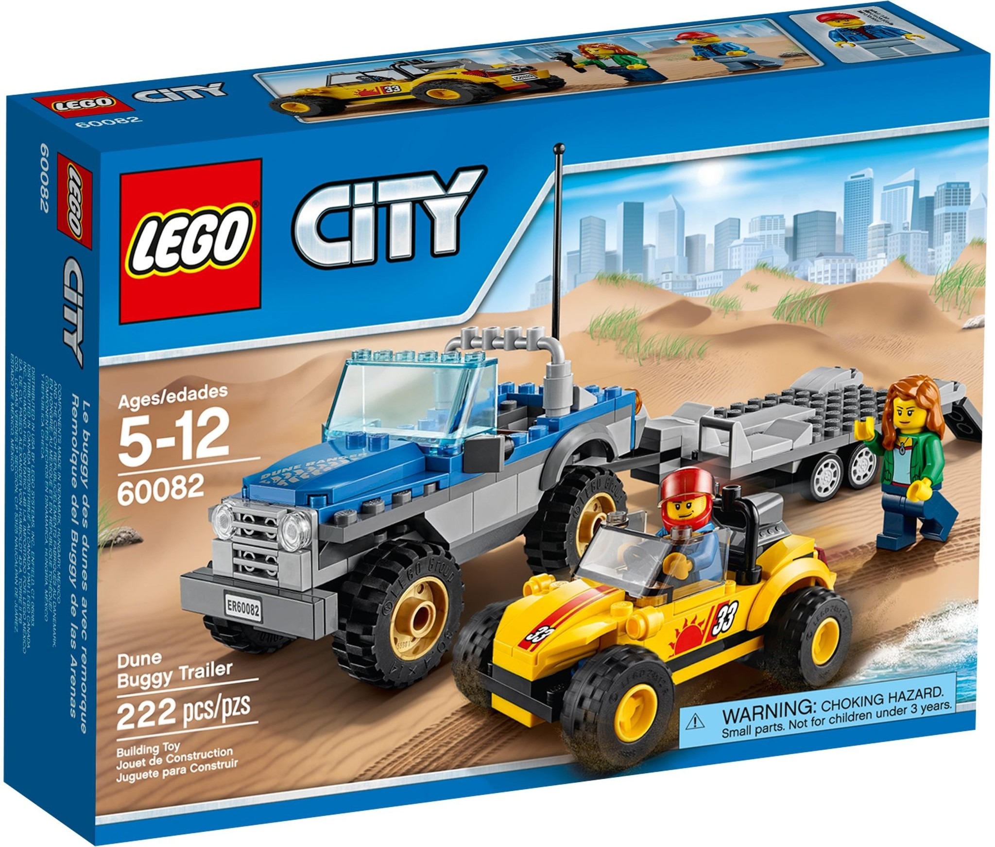LEGO 60082 - City - Dune Buggy Trailer