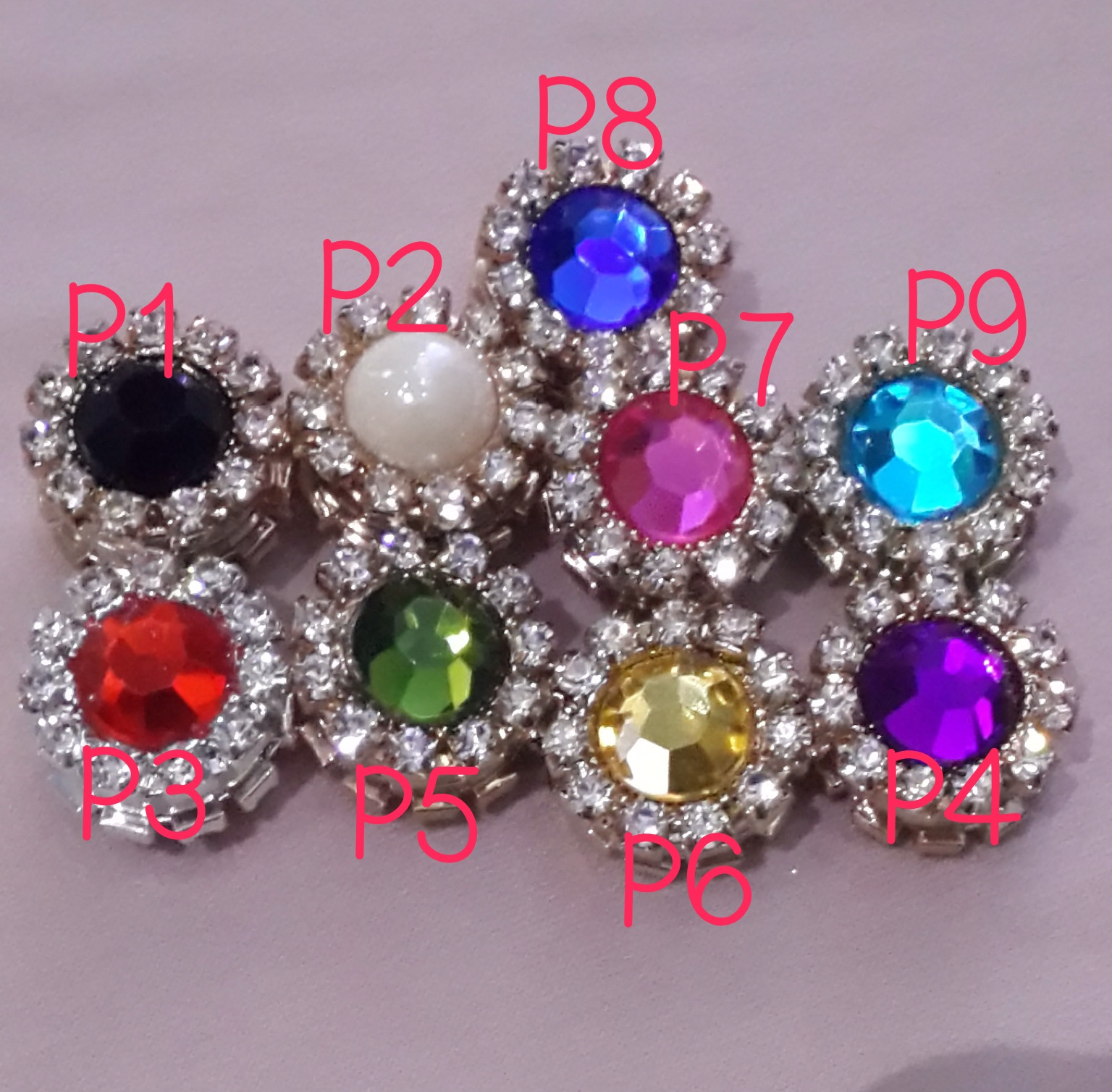 Bros / pin magnet jilbab / hijab diamond