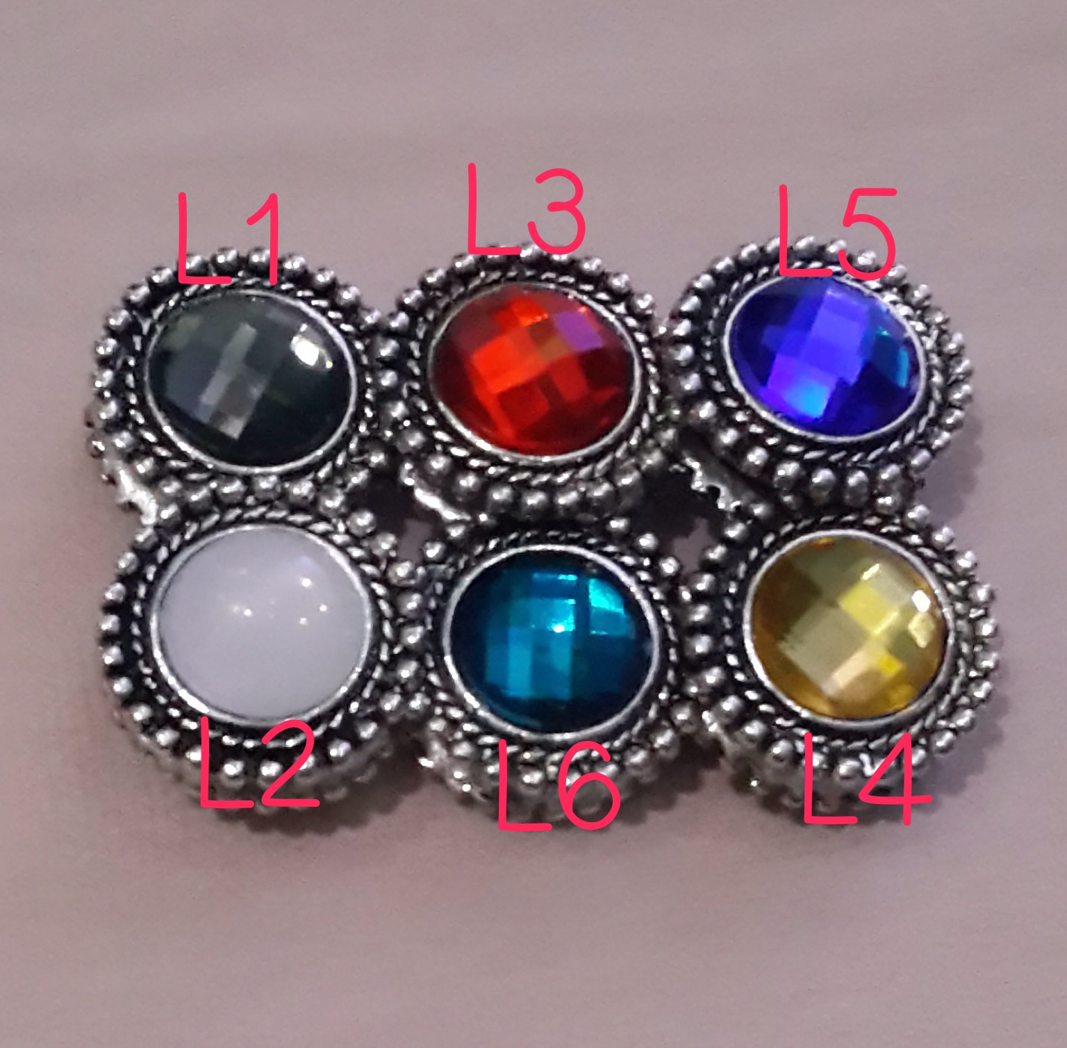Bross pin magnet hijab jilbab colour