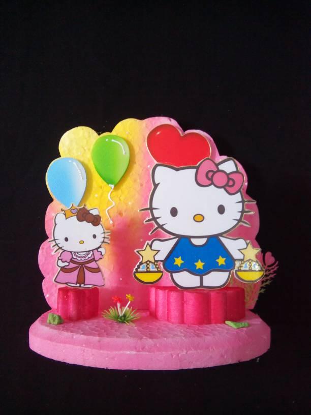 Jual Background Hiasan Kue Ulang Tahun Hello Kitty Medium