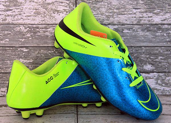Jual Sepatu Sepak Bola Nike Hypervenom ACC Biru Hijau Murah (lokal) .