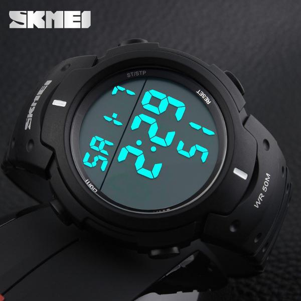Detail Produk SKMEI Pioneer Sport Watch 1068 Original Water Resistant 50M – Black