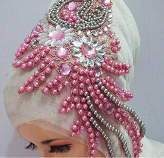 headpiece head piece pengantin hijab