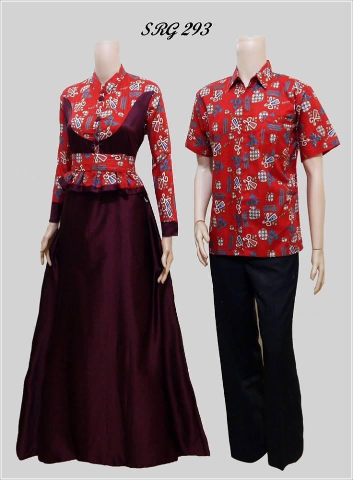 Jual Baju Couple Batik Sarimbit Gamis Sepasang Pasangan