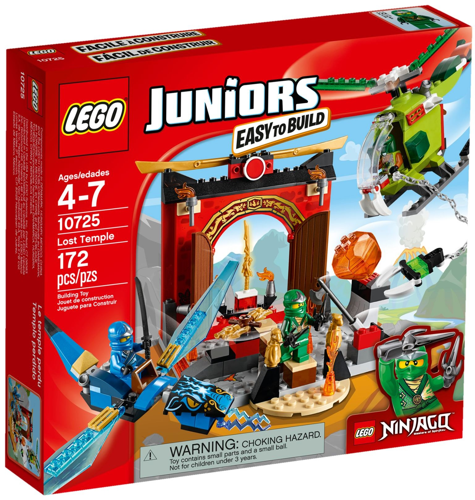 LEGO # 10725 JUNIORS NINJAGO Lost Temple