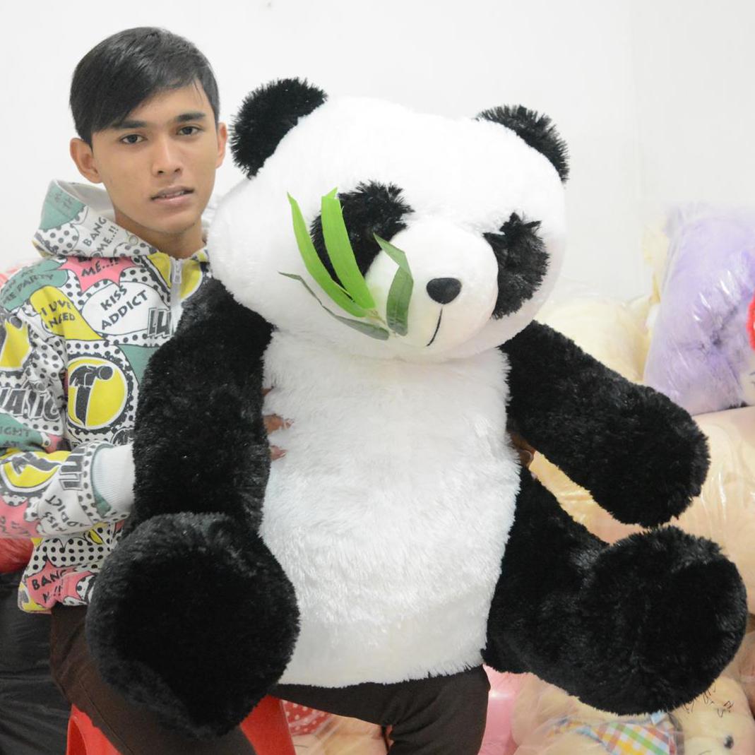 Jual Boneka Panda Daun Besar Jumbo Original 85x80 cm Murah ... 3e881920d8