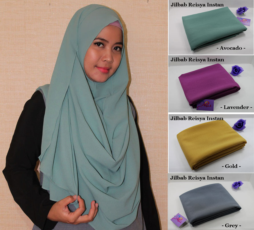 Jual Jilbab Reisya Instan Go Hijab Tokopedia