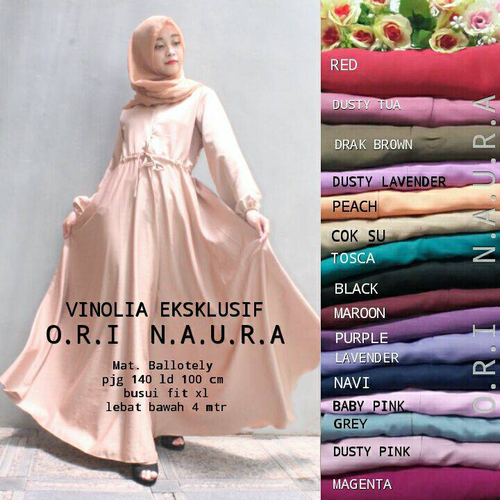 VINOLIA DRESS NAURA / SUPPLIER BAJU HIJAB
