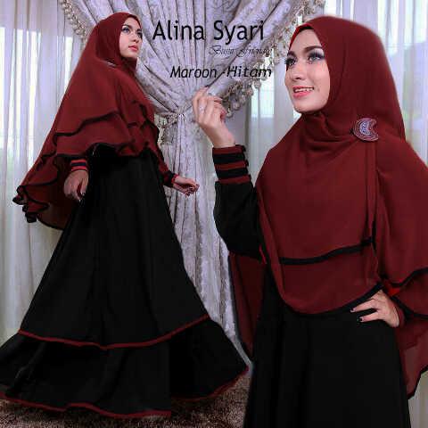 Gamis Syari Busui Alina (terbaru,cantik,modern,modis)
