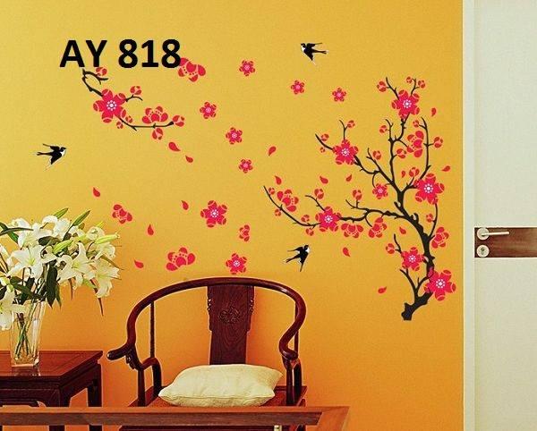 jual wallsticker bunga murah 60x90, stiker dinding