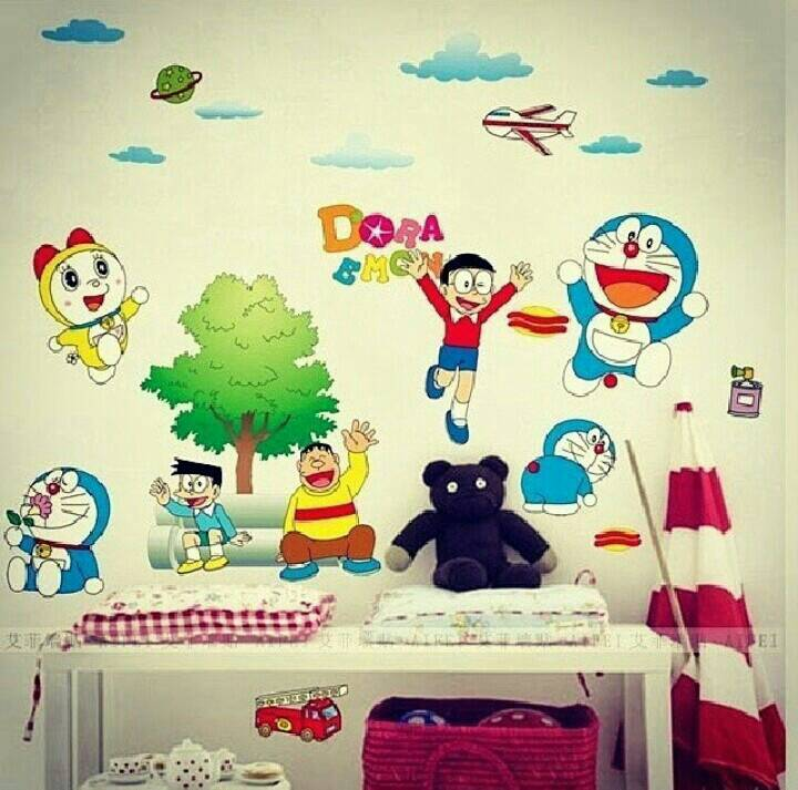 jual wallsticker doraemon main/ stiker dinding/ wall sticker/ dekorasi