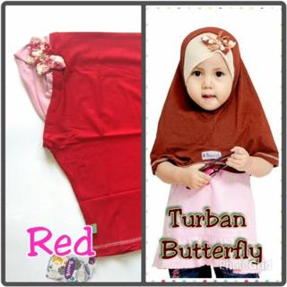 handmade hijab anak turban butterfly