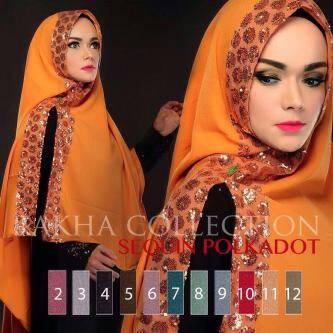 Hijab Khimar Squenn Polka ori Rakha