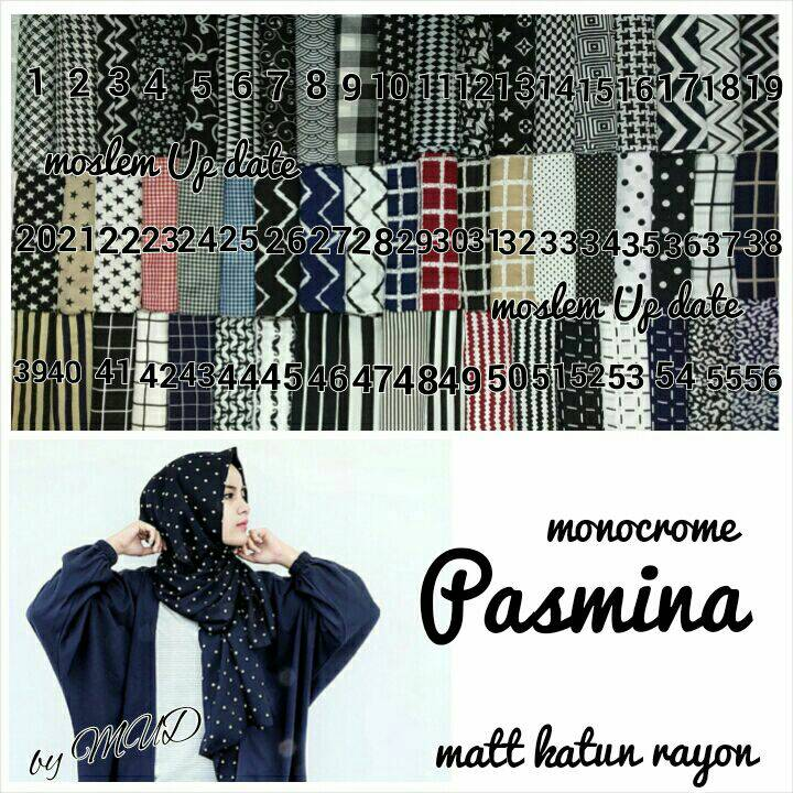 SUPPLIER HIJAB : PASMINA MONOCHROME , JILBAB MONOCHROME