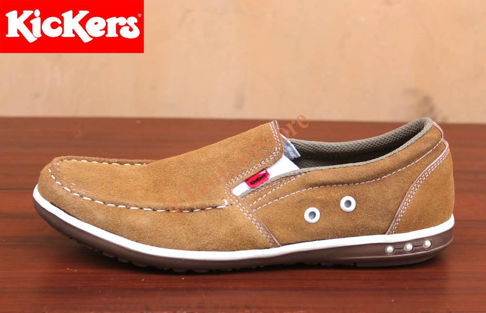 Jual Sepatu Kickers Pria Terbaru Mocasin Slop Kulit - online shop ... adb4855437