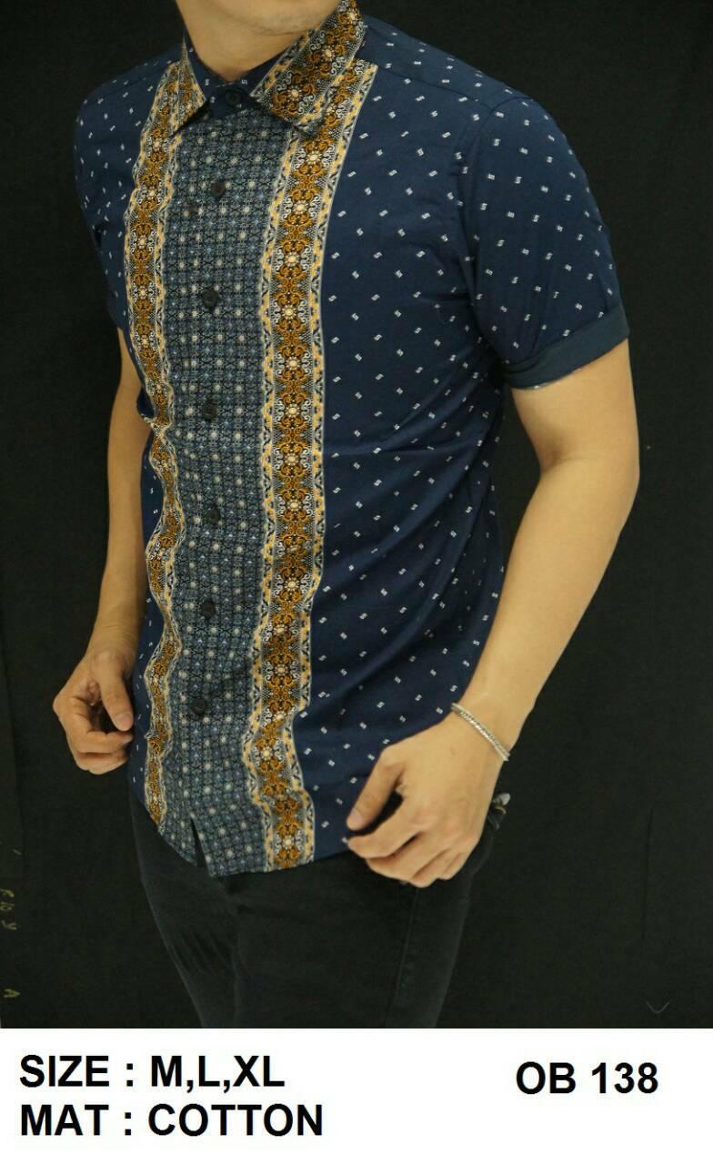 Batik Pria Slim Fit - Kemeja Motif Keren OB138