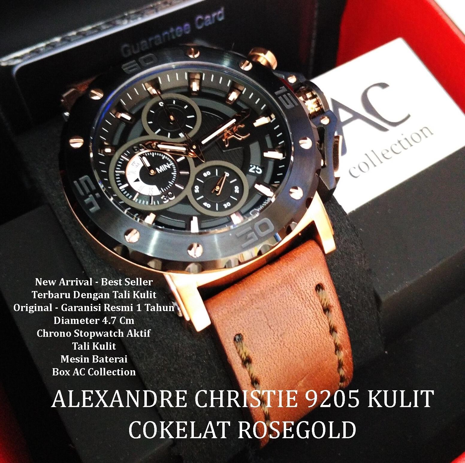 Alexandre Christie Ac6376 Jam Tangan Pria Kulit Coklat List Gold Ac 8516 Jual 9205 Br Original