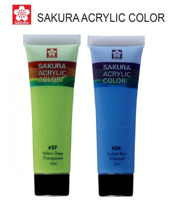 Sakura Acrylic 75ml - Satuan (Tersedia 57 Warna)