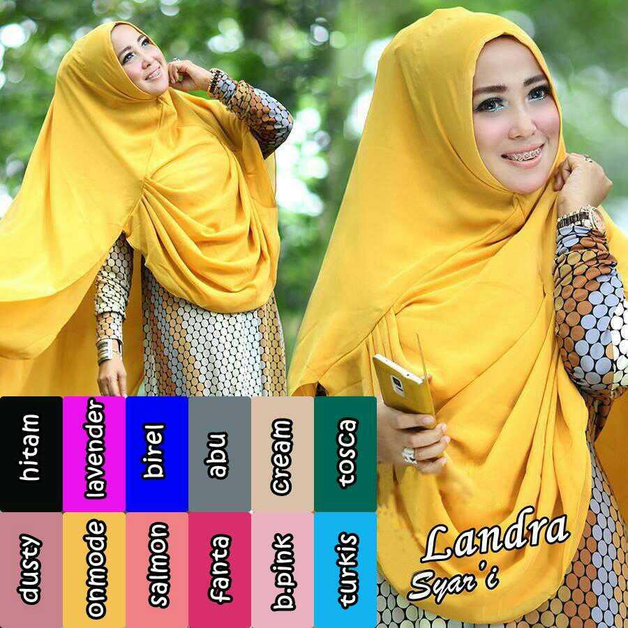 Hijab/Jilbab Khimar Syar'i Landra 60rb Khimar syar'i dua lapis sifon c