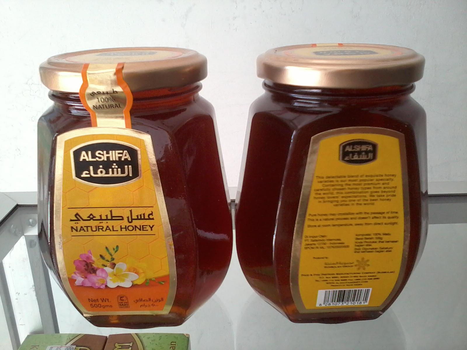 Madu Al Shifa Arab Natural Honey Original 250 Gram Daftar Alshifa Acacia 500gr Arobi 125 Source Jual