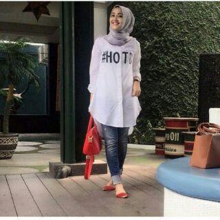 HOTD top (katun) / hijab / tunik /atasan wanita/ blouse wanita