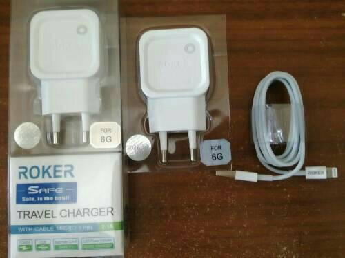 Jual Charger ROKER Iphone 5 & 6 Original 2.1A | Fast Charging - Mampir Cell | Tokopedia