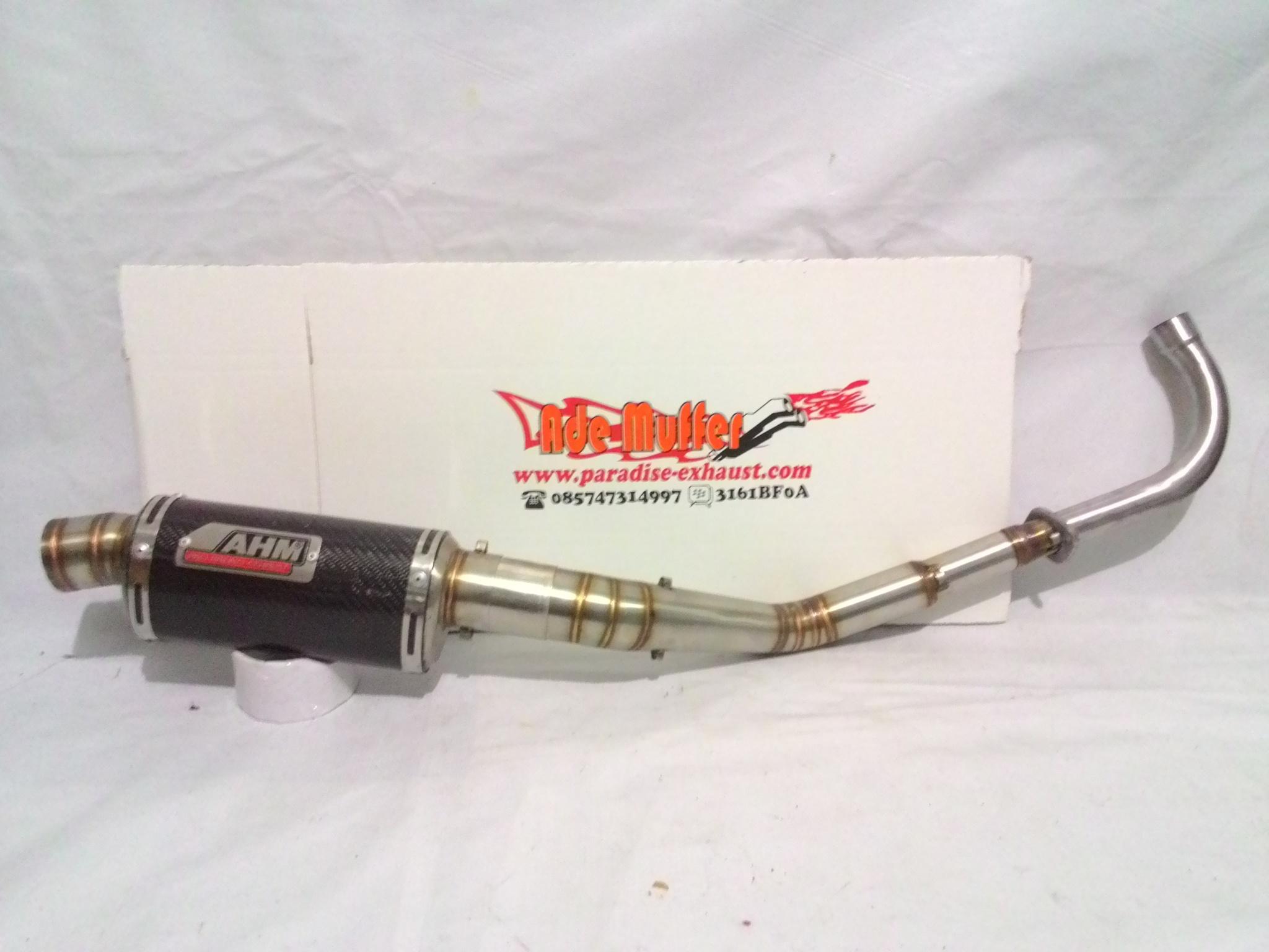 Knalpot AHM Racing fullsystem for all motor bebek stainless argon