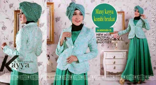 harga Setelan Pakaian Hijab Kayya Tosca Maxi Dress Dan Pashmina Set Baju Tokopedia.com
