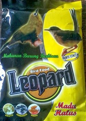 pakan burung leopard untuk pleci, kolibri dll