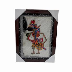 Lukisan Wayang Tokoh Prabu Kresna Kulit Kambing 35cm X 45cm Harga Mur