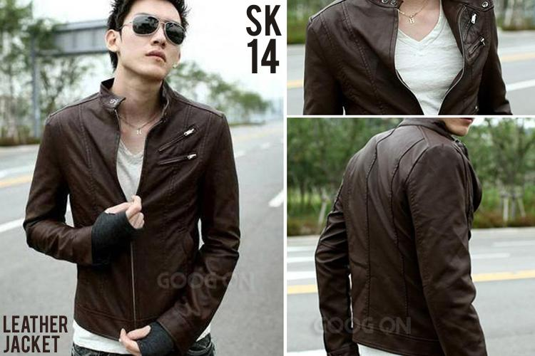 harga Jaket Style Leather Coklat Tokopedia.com